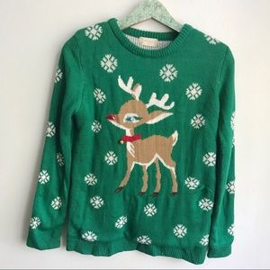 Altar'd State Christmas Sweater Holiday Rudolph